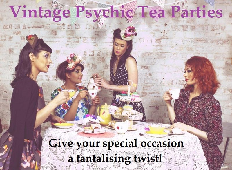 Vintage tea parties with psychic readings, past life regression or meditation