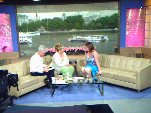 Charlie, psychic medium appearing with her best selling book on ITV's This Morning